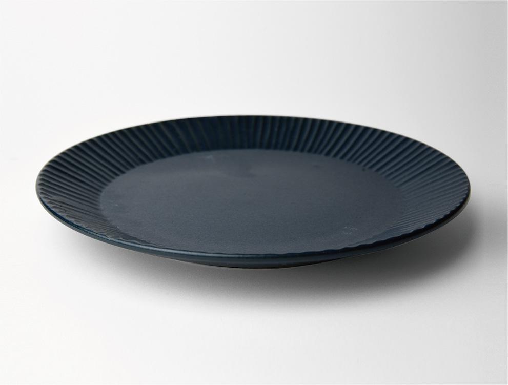 しのぎ_ブルーマット 7寸平皿 イメージ