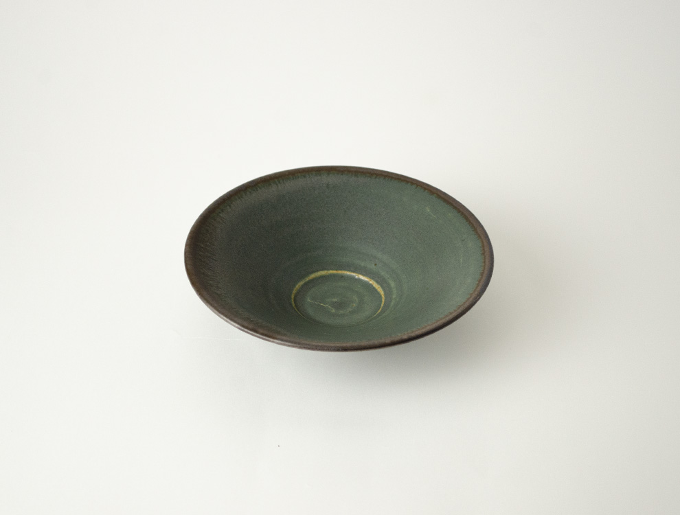 SABI_濃緑 平鉢 小のイメージ
