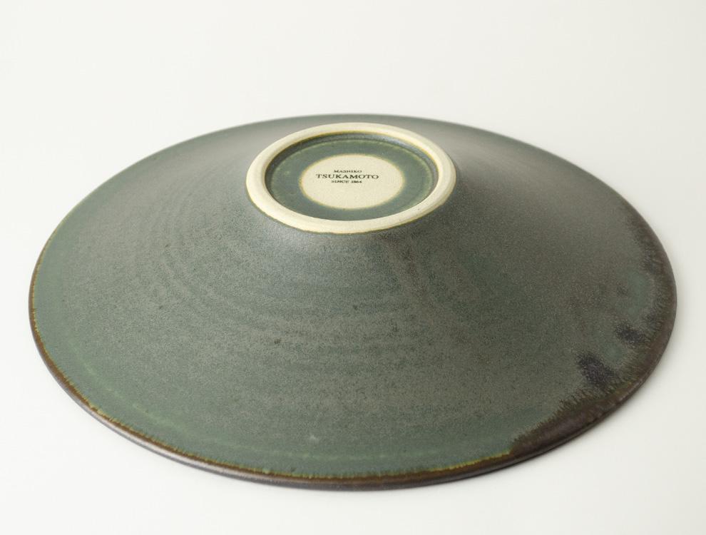 SABI_濃緑 平鉢 大のイメージ