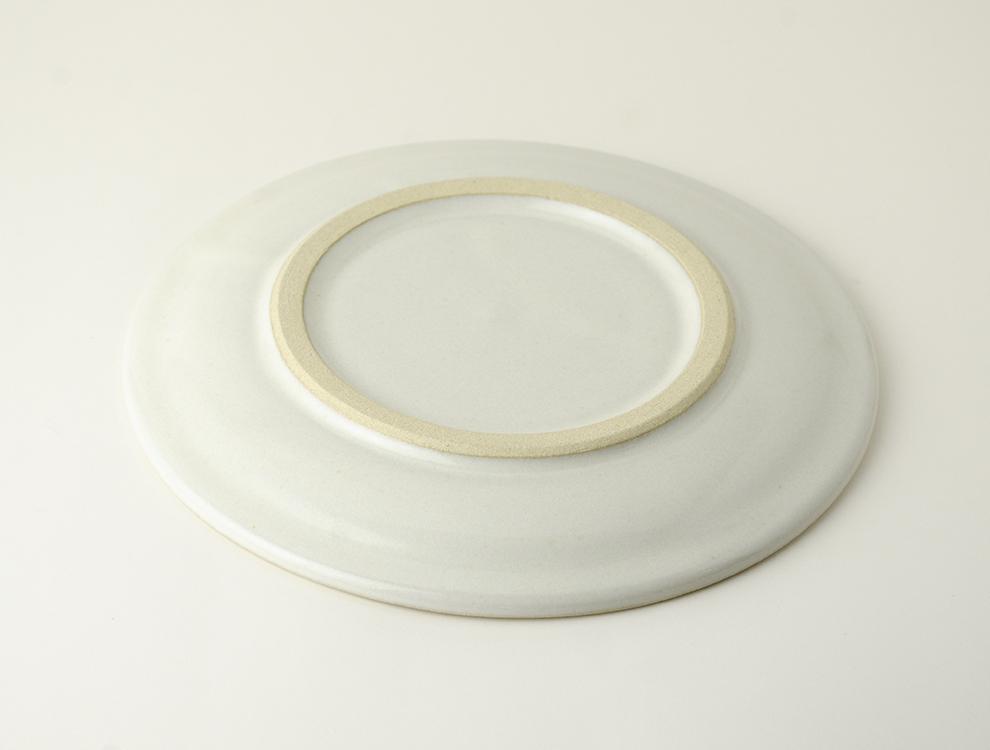 益子伝統釉_糠白釉 パン皿のイメージ
