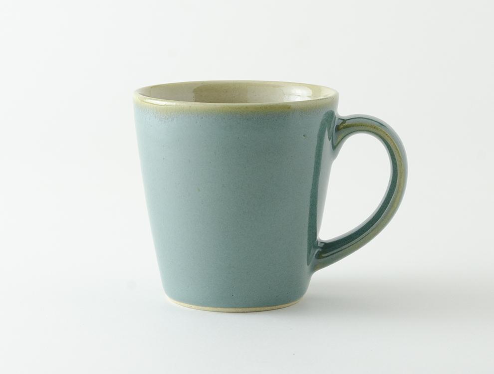 益子伝統釉_益子青磁釉 ロングマグカップ イメージ