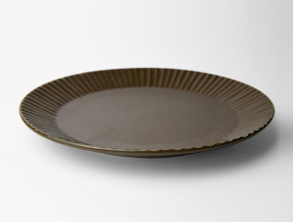 しのぎ_ブラウンマット 7寸平皿 イメージ