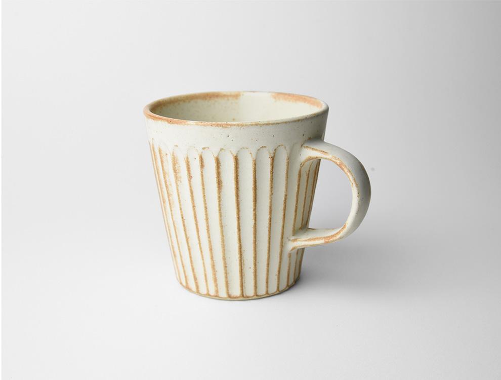 しのぎ_クリームマット マグカップ イメージ