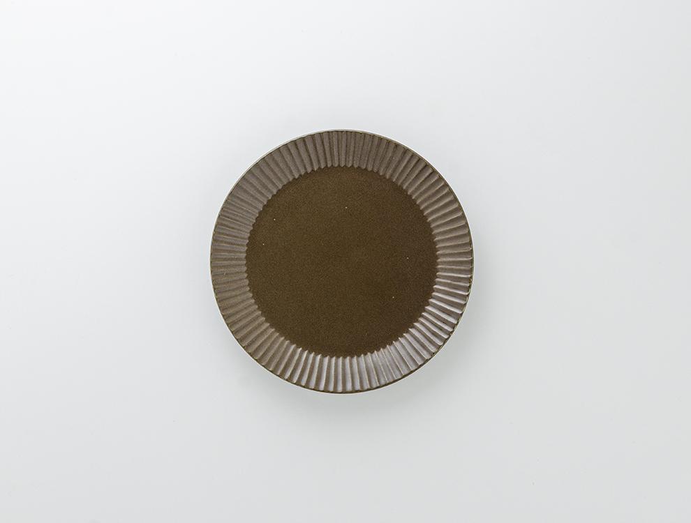 しのぎ_ブラウンマット 5.5寸平皿のイメージ