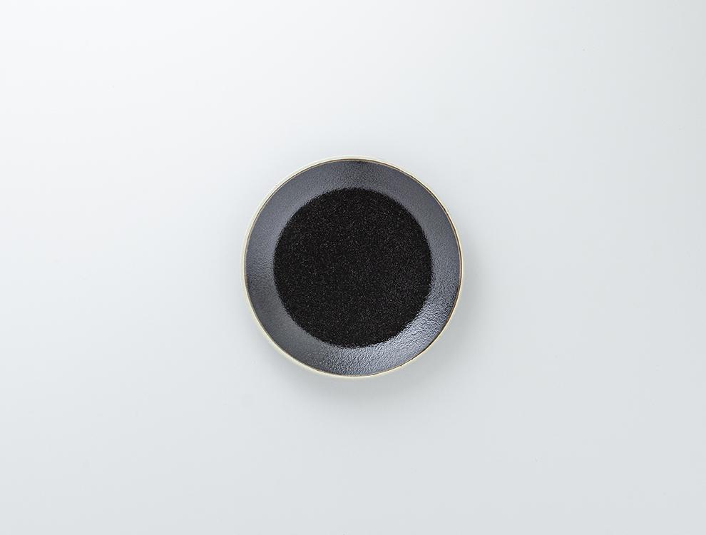 益子伝統釉_ゆず肌黒釉 5.5寸平皿のイメージ