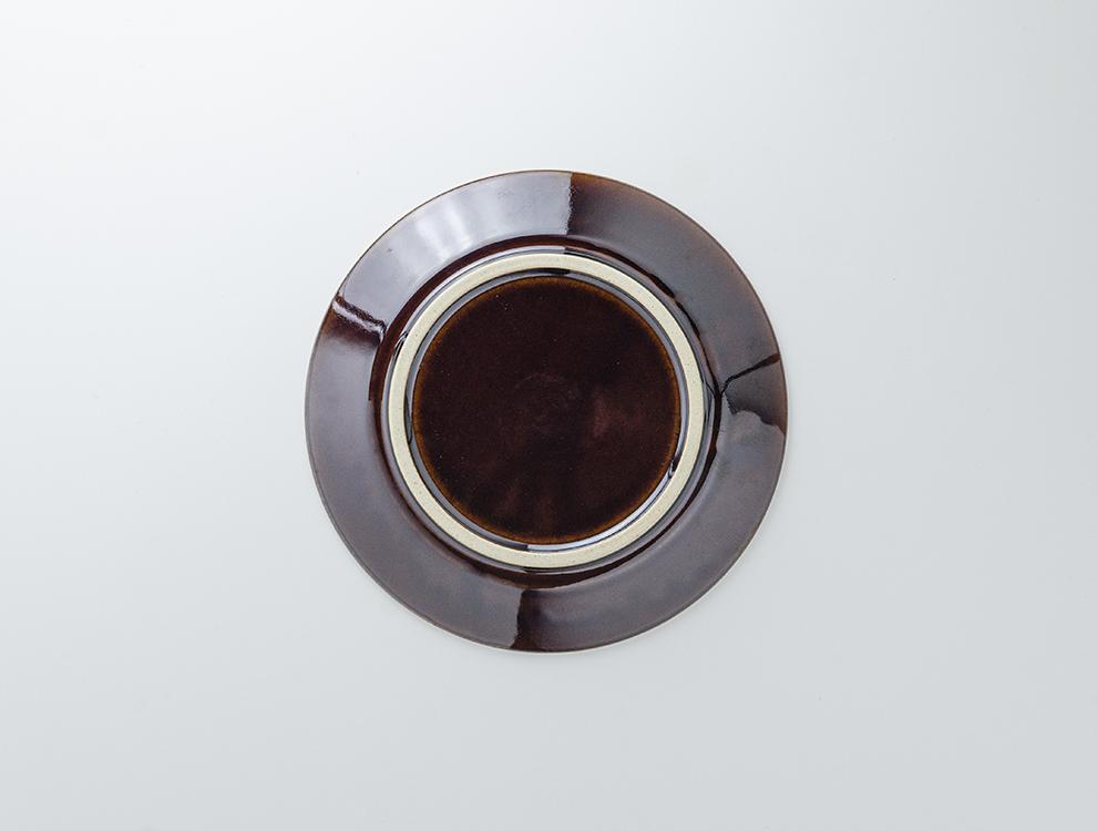 益子伝統釉_飴釉 8寸平皿のイメージ