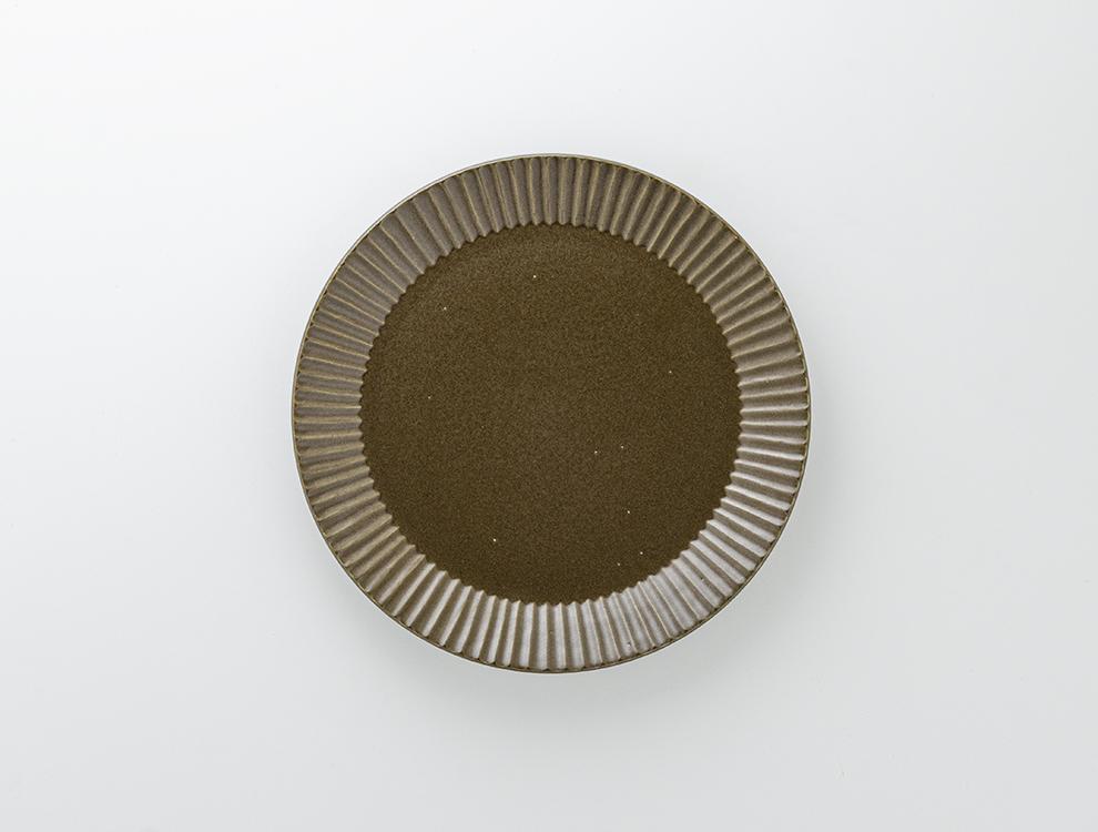 しのぎ_ブラウンマット 7寸平皿のイメージ