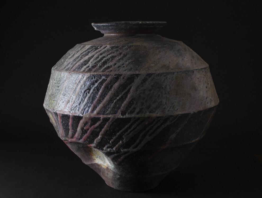 竹下鹿丸_自然釉面取大壺のイメージ