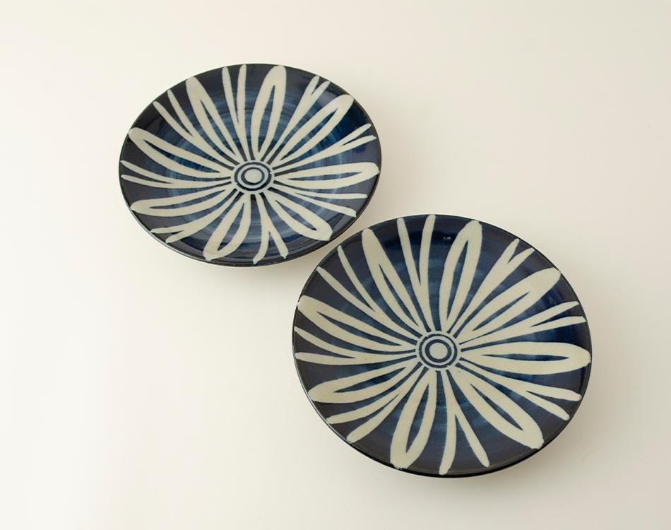 ペルシャ紋5寸丸皿セット(2枚入り)のイメージ