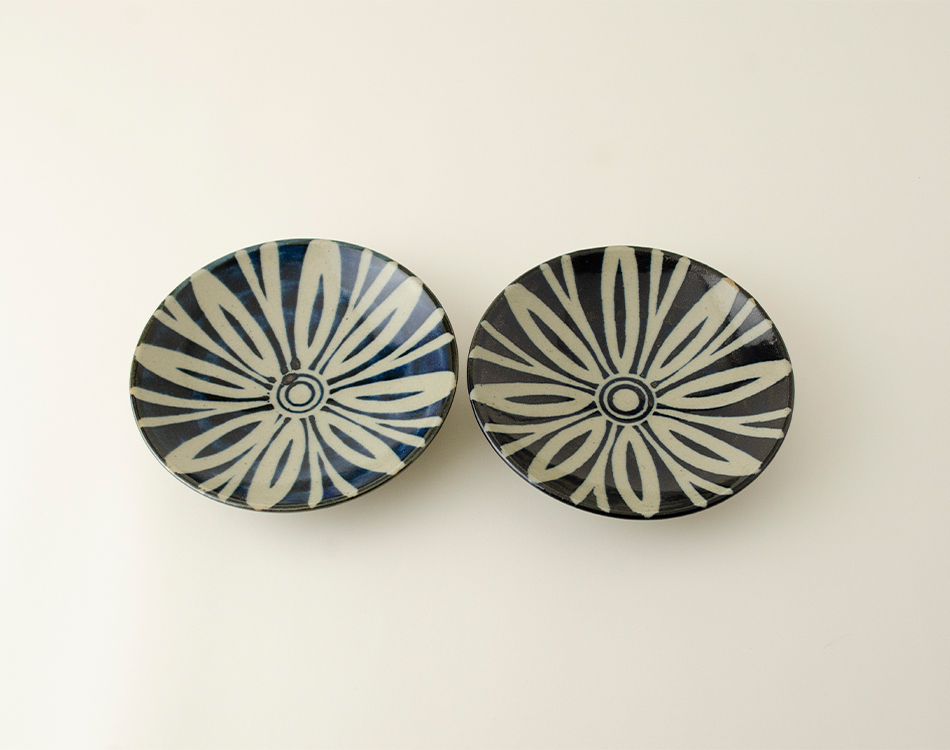 ペルシャ紋4寸丸皿セット(2つ入り)のイメージ