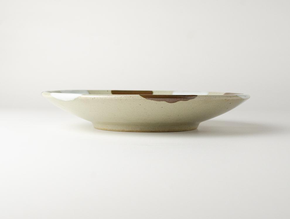 二彩_糠柿二彩 7寸丸皿のイメージ