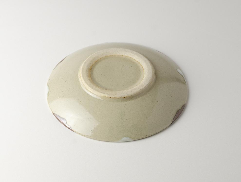 二彩_糠柿二彩 6寸丸皿のイメージ