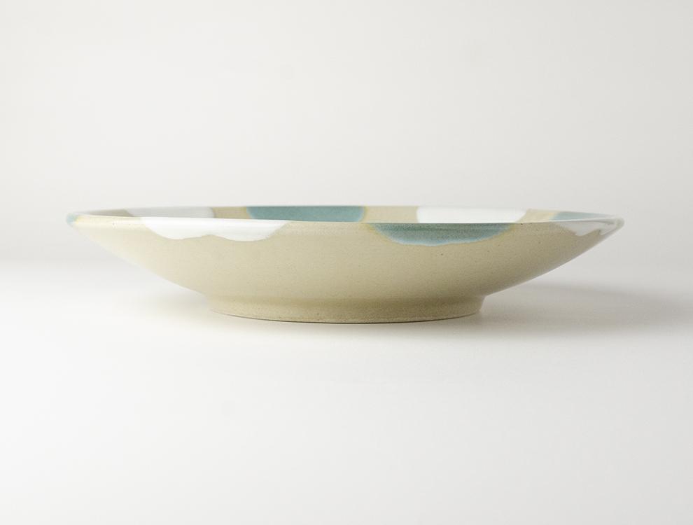 二彩_糠青二彩 8寸丸皿のイメージ