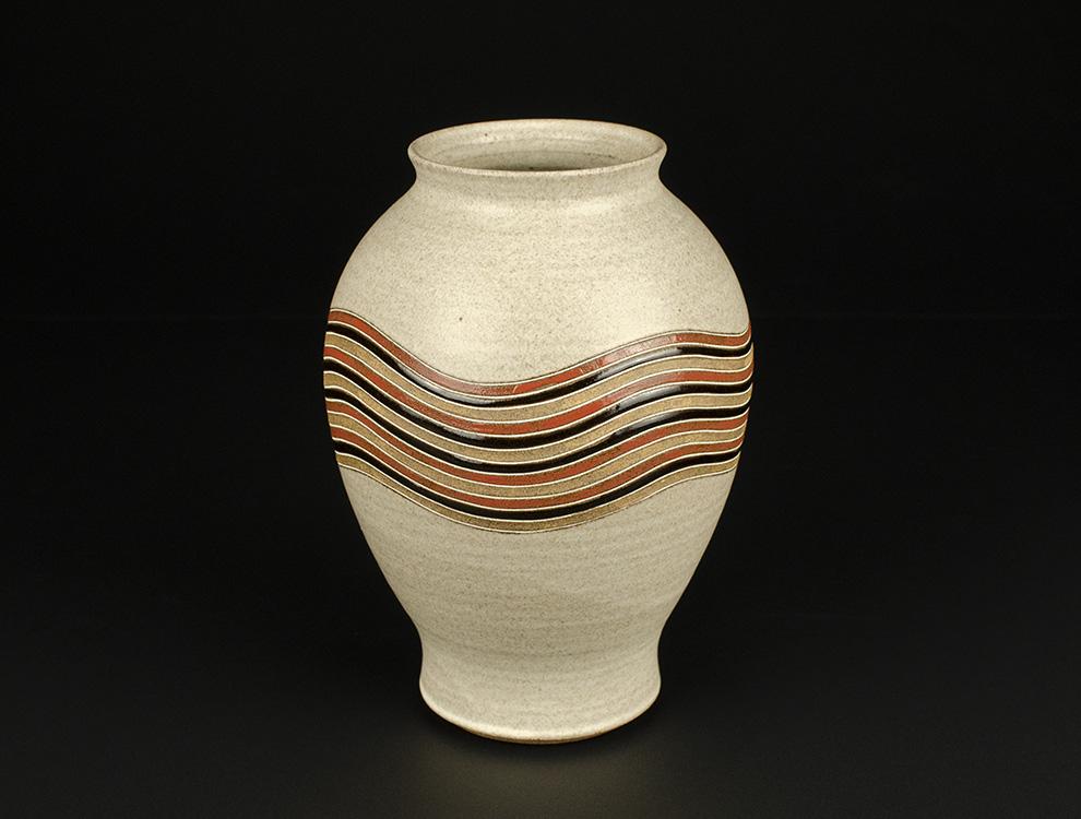 向山文也_釉彩花瓶のイメージ