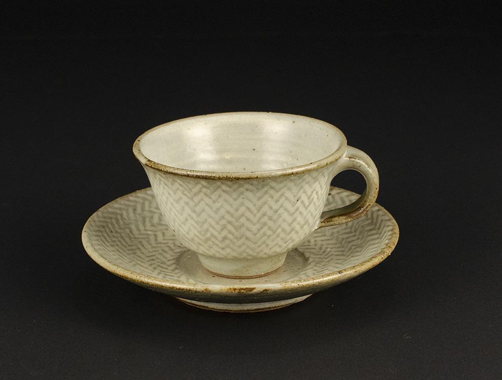 島岡桂_地釉縄文象嵌コーヒー碗皿のイメージ